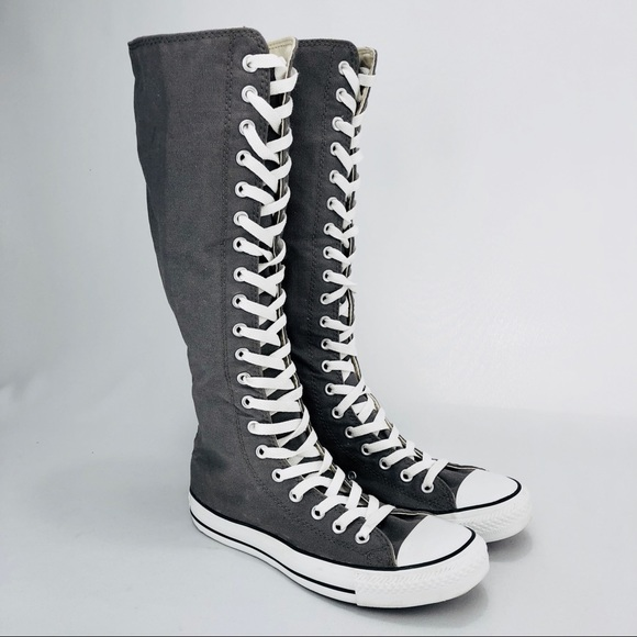 a9b6d1cbfcc Converse Shoes - To The Knee CONVERSE Sneakers! Grey. Size 8.5.
